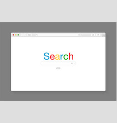 modern browser window design isolated vector image