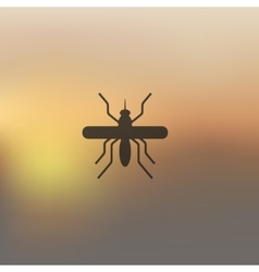Mosquito icon on blurred background vector