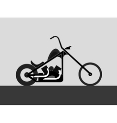 motorcycle custom chopper vector image