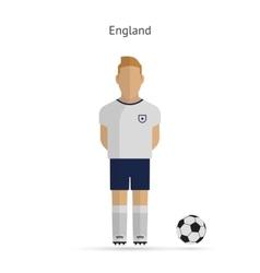 National football player England soccer team vector
