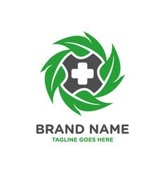 natural medical logo design template vector image