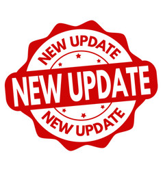 New update sign or stamp vector
