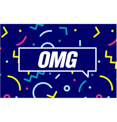 Omg in design banner template for web vector