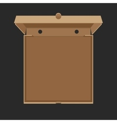 Opened cardboard box for pizza vector