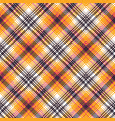 orange plaid seamless pattern vector image