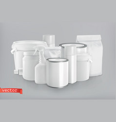 Packaging building and sanitary white plastic vector