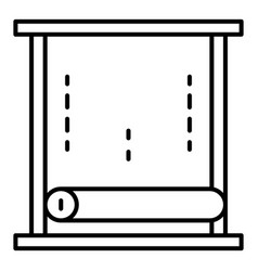 paper window roller icon outline style vector image