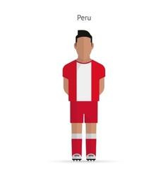 Peru football player Soccer uniform vector