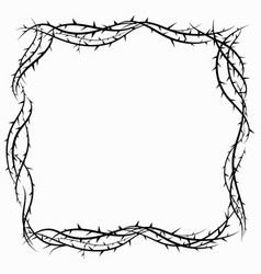 Realistic design crown thorns vector