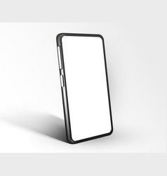 realistic smartphone mockup cellphone frame vector image