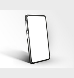 realistic smartphone mockup cellphone frame with vector image