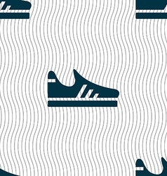 Running shoe icon sign Seamless pattern with vector