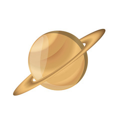 Saturn planet isolated vector