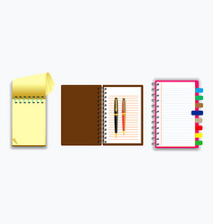 set note book or ripped paper vector image