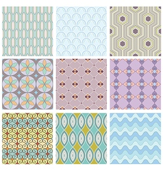 Set of geometric seamless pattern vector