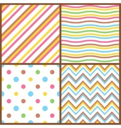 Set of seamless colorful patterns for easter eggs vector