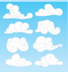 set of stylized clouds a collection of vector image