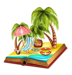 Summer Open Book vector image
