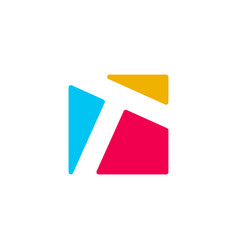 T letter logo icon vector