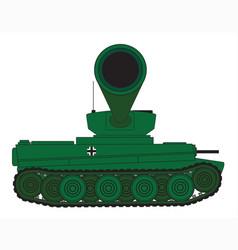 Tank turret gun barrel vector