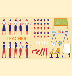Teacher woman constructor in formal clothing vector