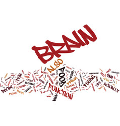 The brain food recipe text background word cloud vector