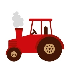 tractor farm isolated icon design vector image