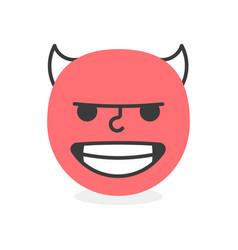 Trendy evil emoji smile eps10 vector