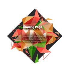 Triangular design abstract background landing vector