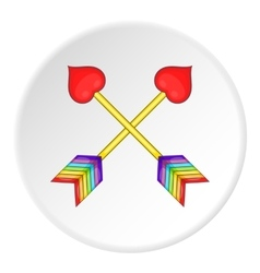 Two arrows LGBT icon cartoon style vector image