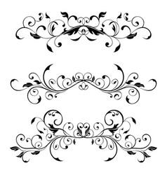 vintage floral dividers decorative ornaments vector image