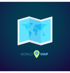 World map logo with pointer vector image