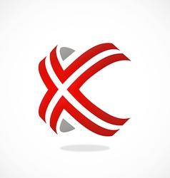 X symbol line modern logo vector