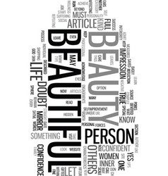 you are beautiful text word cloud concept vector image