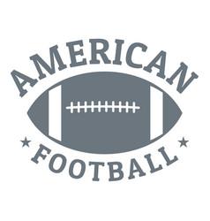 american football logo simple style vector image
