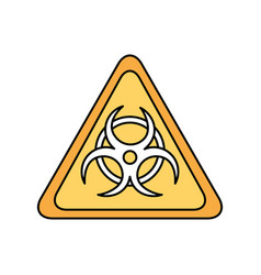 atomic caution signal icon vector image