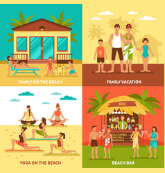 beach holiday design concept vector image
