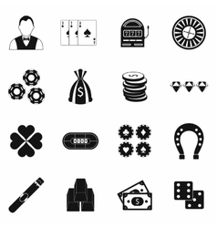Casino simple icons vector image vector image
