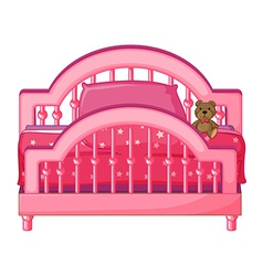 Childs bed vector image vector image