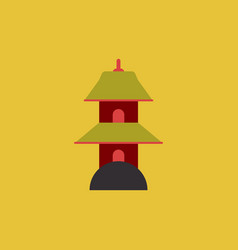 chinese temple of heaven pagoda vector image