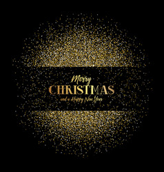 christmas and new year background with gold vector image vector image