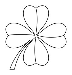Clover leaf icon outline style vector image vector image