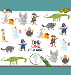 find one of a kind activity game vector image
