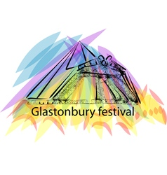 glastonbury festival vector image vector image