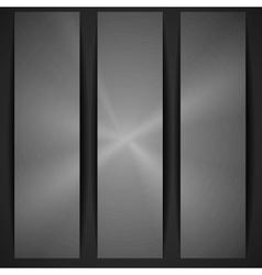 Metal Texture Banner vector image vector image