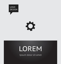 of network symbol on gear icon vector image