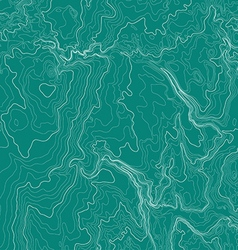 Topographic map background in green colors vector image vector image