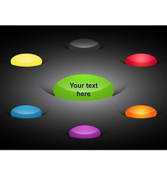 Web color elements vector image vector image
