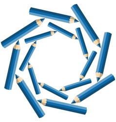 whirlpool pencils vector image vector image