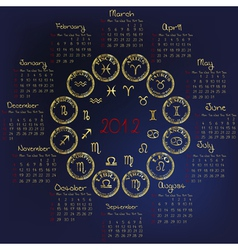 2012 horoscope vector image vector image